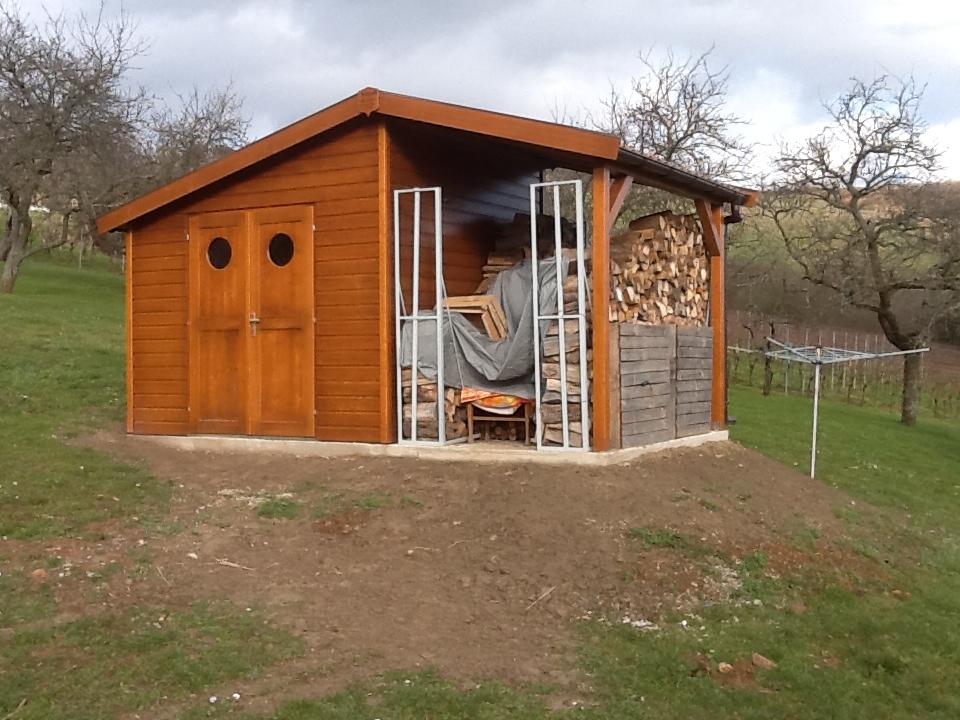 Abri bucher stockage bois