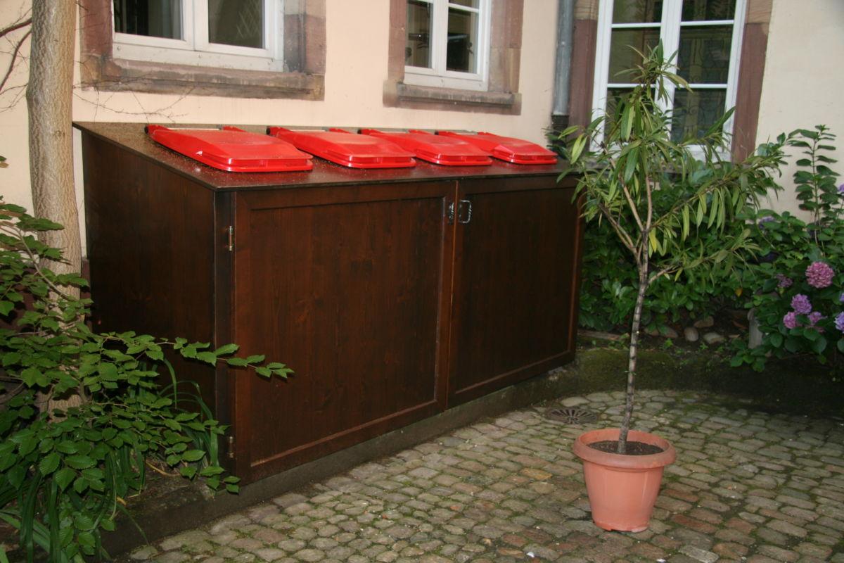 Conteneur poubelles sur mesures