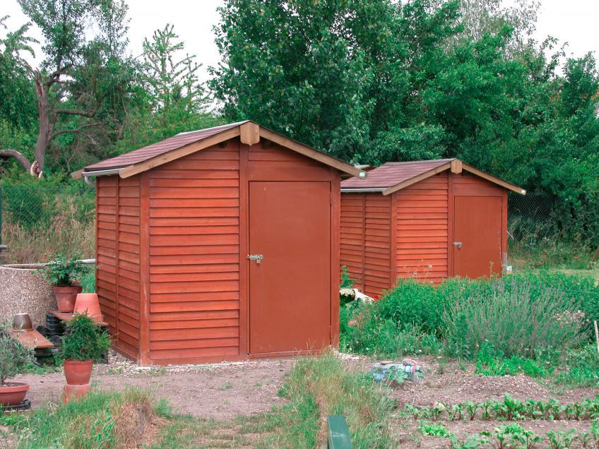 Abri jardin béton aspect bois