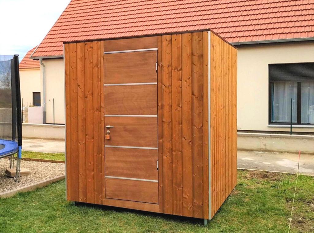 Abri de jardin cube bois
