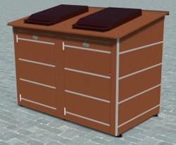abri pour poubelles Neuilly double
