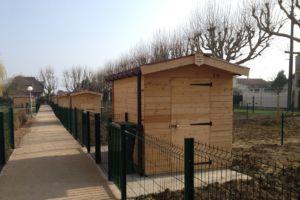 Abris jardins familiaux bois Alsace