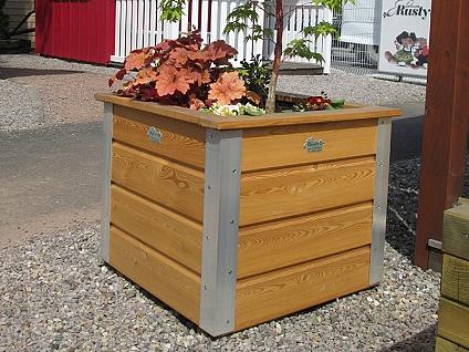 Bac à plantes bois Manhattan