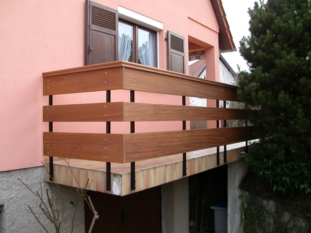 Balustrade bois iroko imputrescible Alpin
