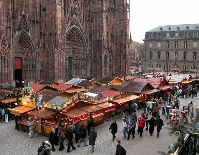 Chalet marché de Noël Alsace