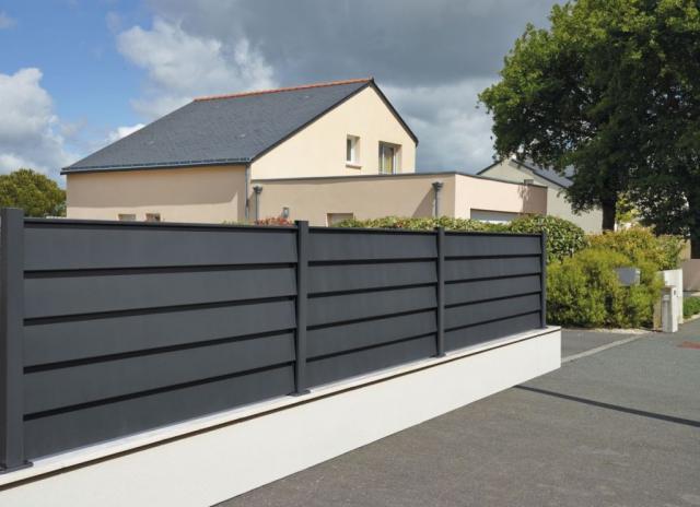 Claustra, clôture, brise-vue aluminium