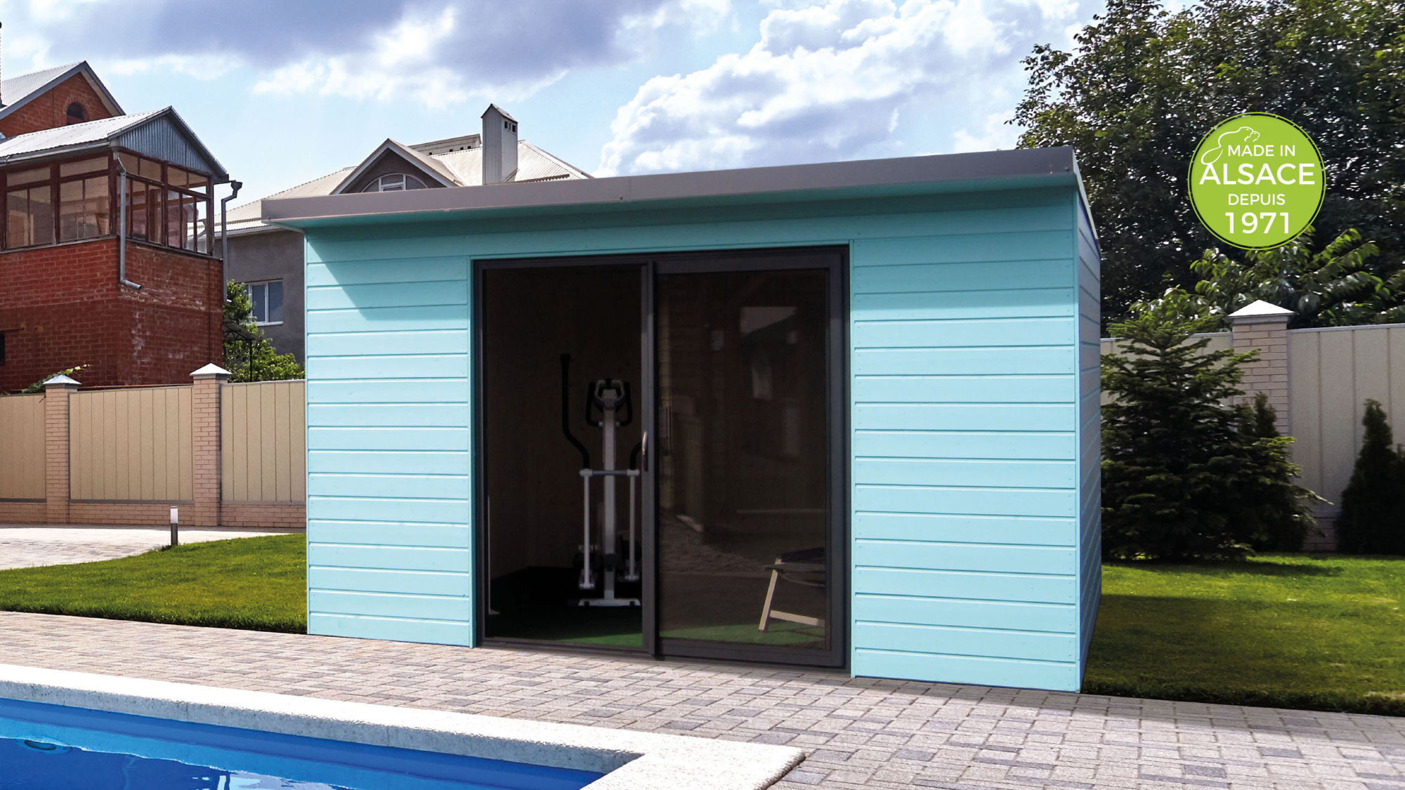 Fabricant abri piscine pool house Alsace