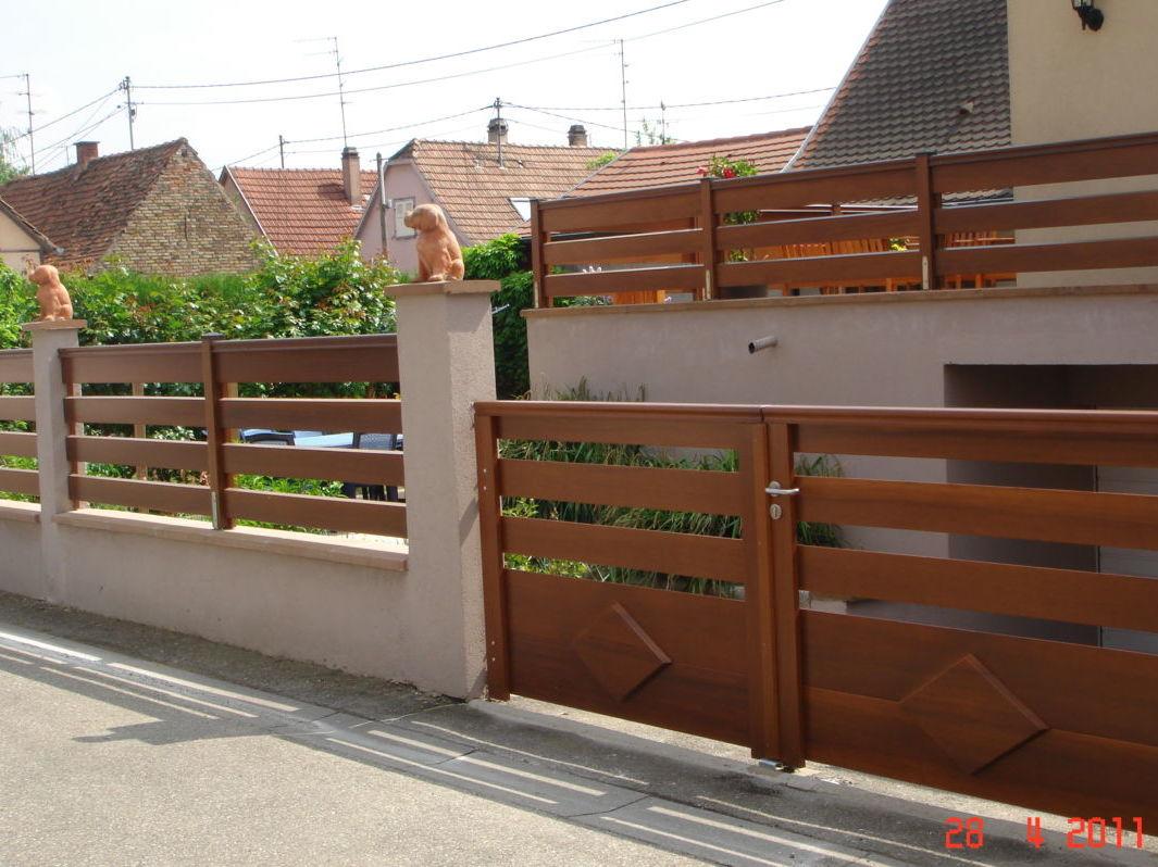 Fabricant portail bois Alsace - Modèle Alpin