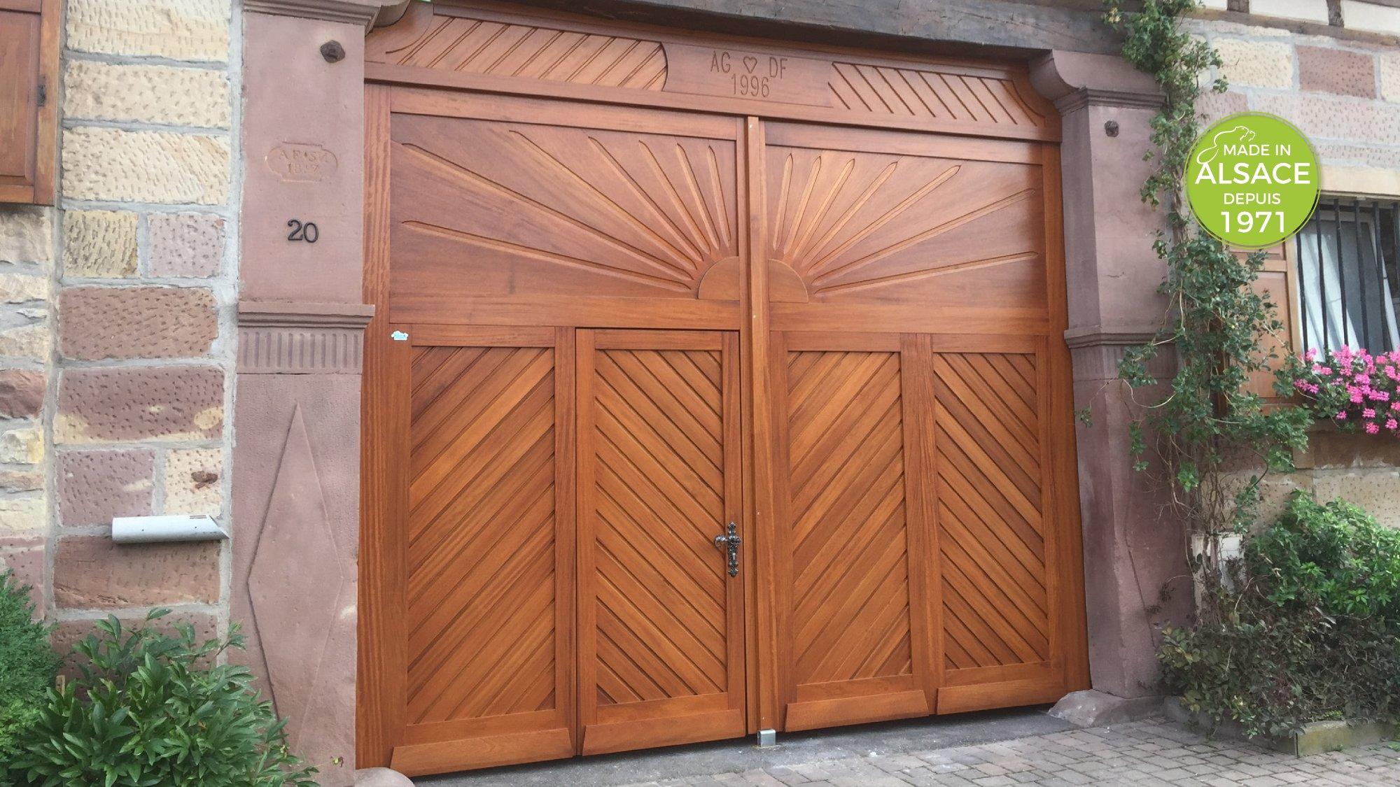 Fabricant portail corps de ferme en Alsace