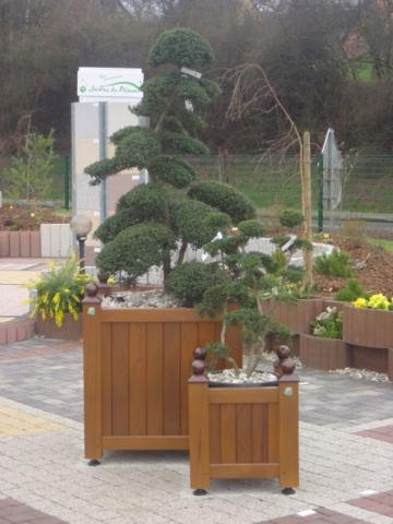 Bac à plantes en bois Alsace