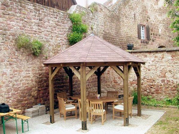 Fabricant kiosques et gloriettes bois Alsace