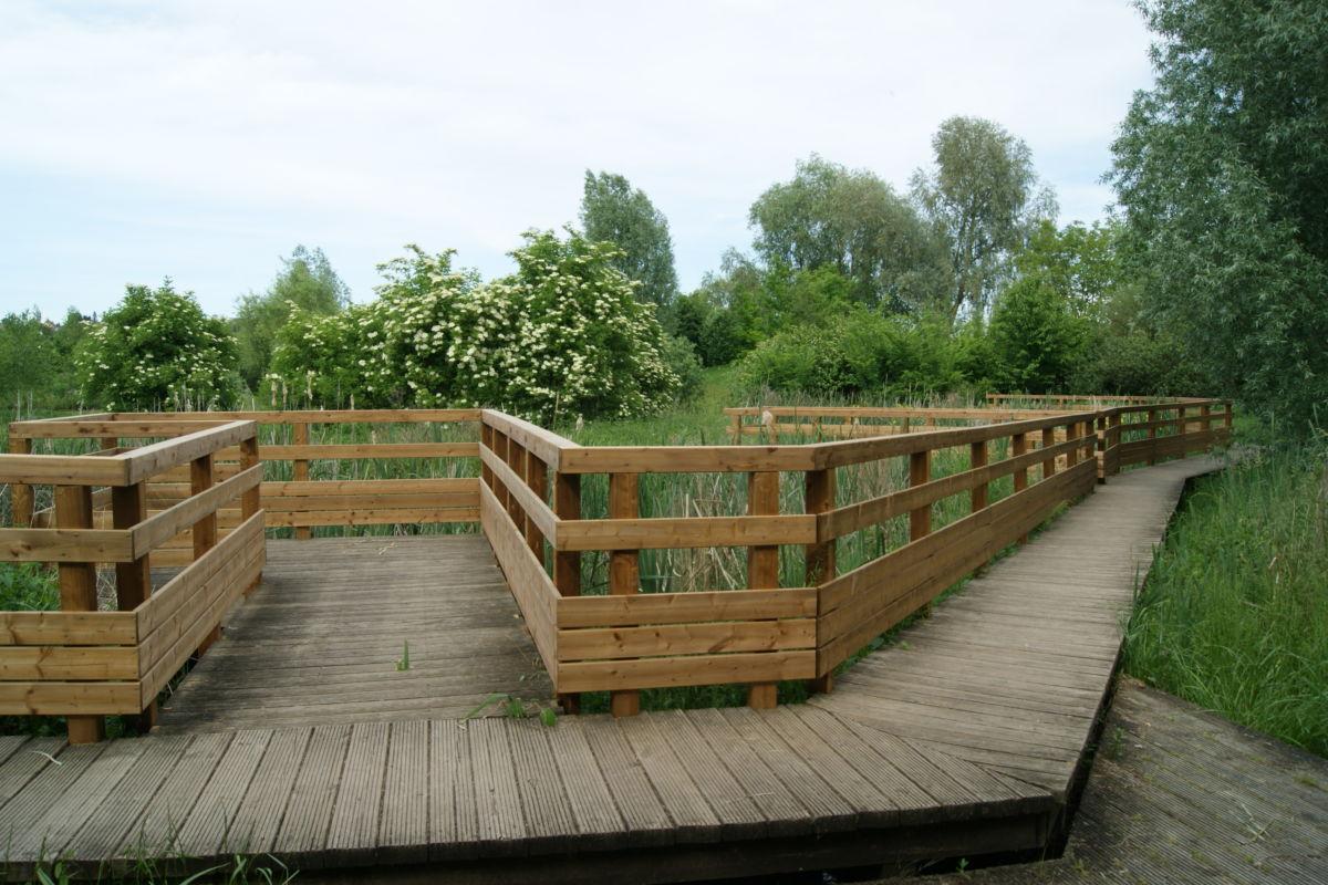 Passerelle en bois sur mesure Alsace