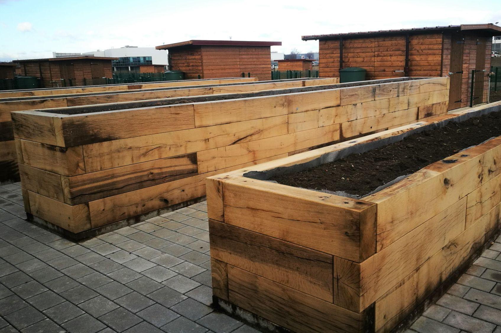 Jardinière bac à plantes bois Bischheim
