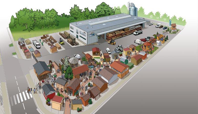 Parc exposition chalets Alsace Rustyle