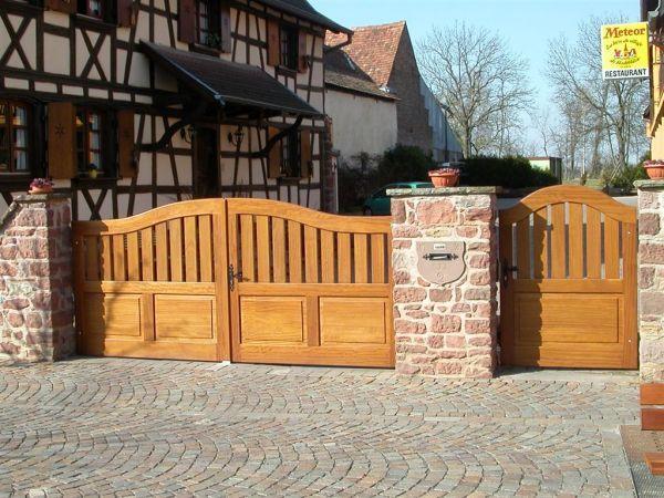 Fabricant portail cloture bois Alsace