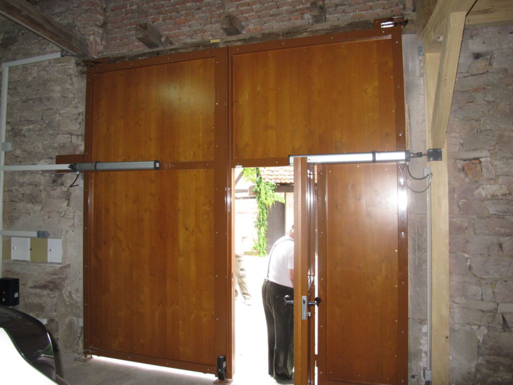 Rénovation portail corps de ferme en Alsace