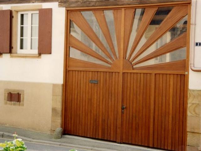 Portail porte cochère sur mesure Alsace