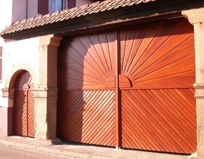 Portail ferme bois Alsace