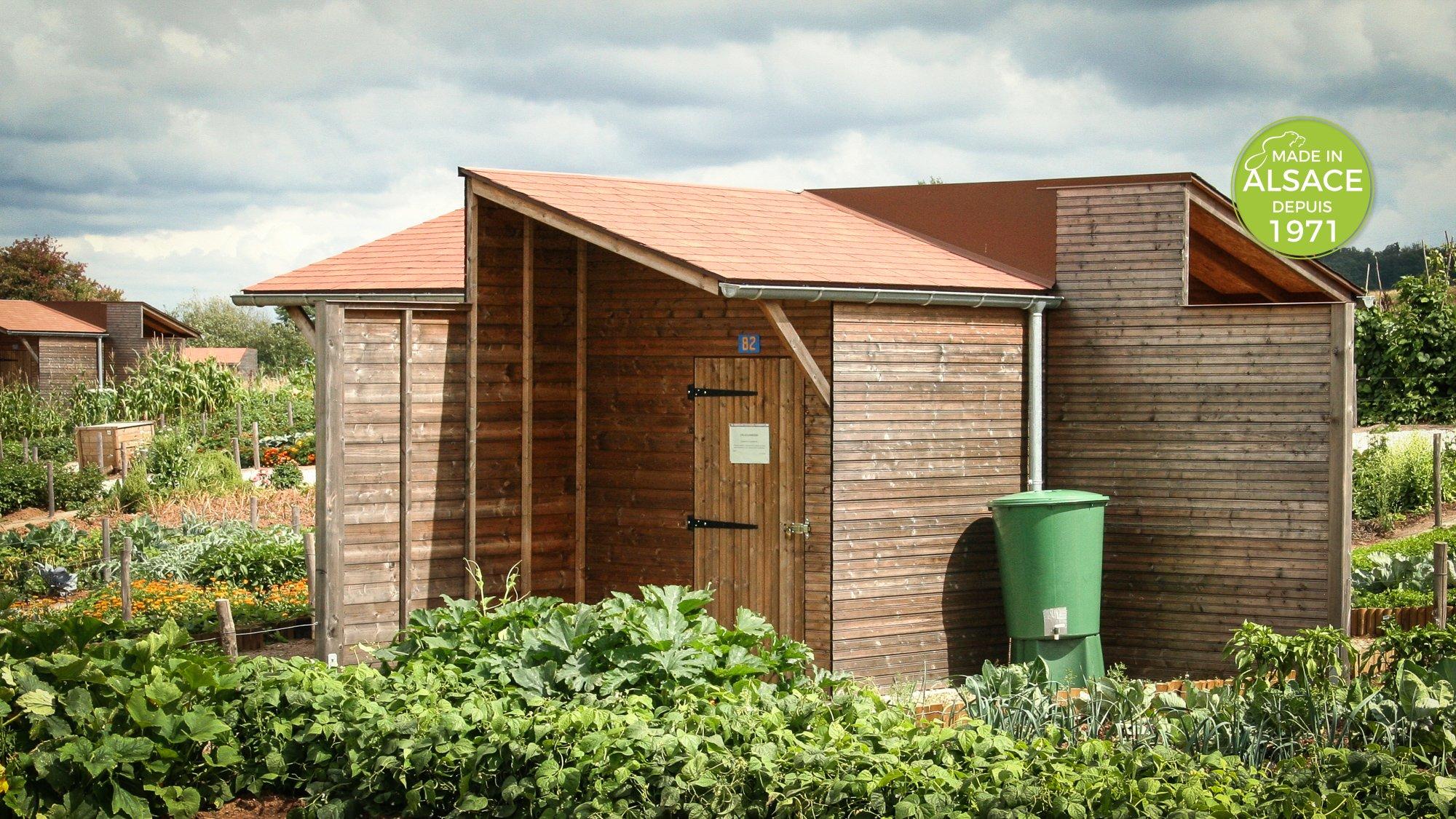 Fabricant abri de jardins familiaux Alsace