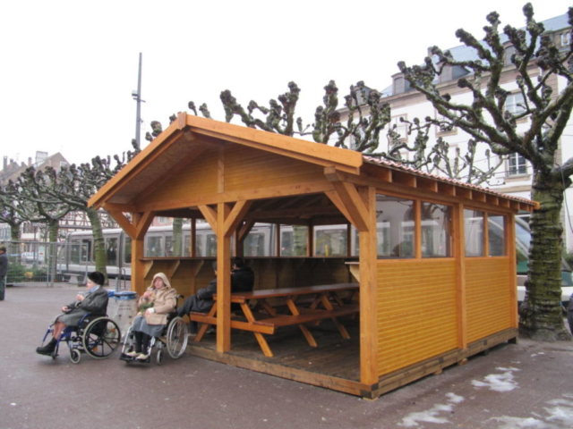 Structure couverte restauration