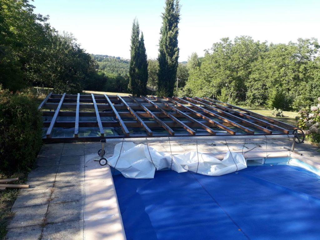 Solivage en bois pour plancher terrasse bois